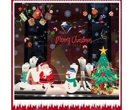 Decoratieve Kerst Raamstickers van PVC