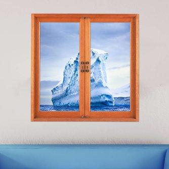 3D Muursticker van PVC met IJsberg