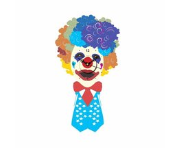 3D Muursticker Klok met Clown