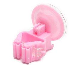 Roze Muurhaken met Zuignap 5 Stuks