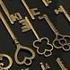 Vintage Sleutelhangertjes 23 Stuks