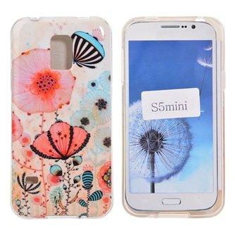 Hoes Met Bloemen Voor Samsung Galaxy S5 Mini