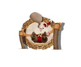 3D Kerstman Sticker
