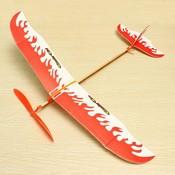 Thunder Bird Vliegtuigmodel met Elastiek Aandrijving