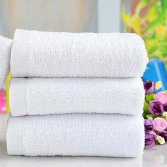 Witte Handdoek Van Kattoen 60x30CM