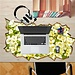 Bureau Sticker Met Bloemen In Meerdere Kleuren