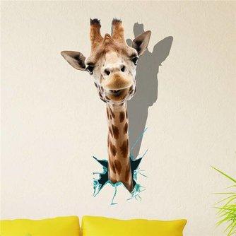 PAG 3D Muursticker Met een Giraffe