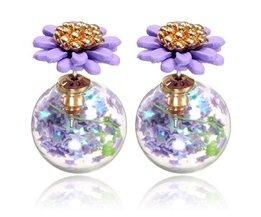 Glazen Oorbellen Voor Vrouwen In Meerdere Kleuren