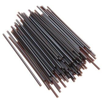 Zwarte Rietjes 100 Stuks van Plastic