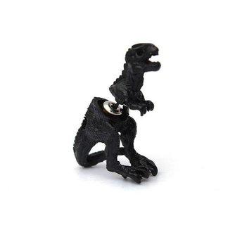 Zwarte Oorbel 3D Dinosaurus Unisex