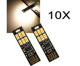 Mini USB LED Lamp 10 Stuks