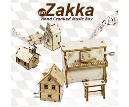 Zakka DIY Houten Muziekdoosje