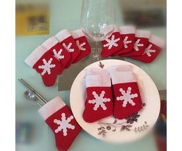 Rode Kerstsokjes 10 Stuks