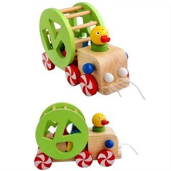Houten Speelgoedauto met Blokken