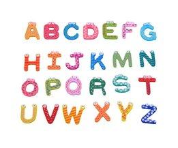 Houten Magneetletters voor Kinderen 26 Stuks