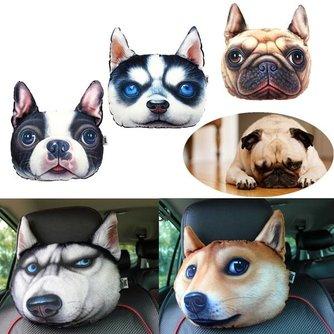 Katoenen Sierkussen met 3D Hondenprint 28 x 20CM