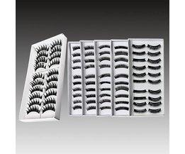 Modieuze Zwarte Valse Wimpers 10 Paar
