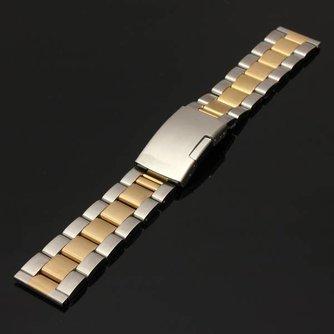Zilver Horlogebandje Met Gouden Streep