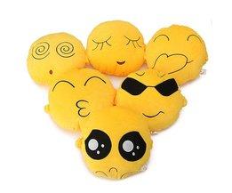 Emoticon Emoji Cartoon Kussen 20 x 20 CM