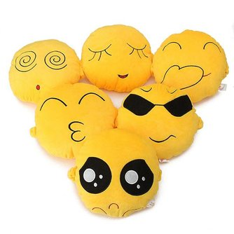 Emoticon Emoji Cartoon Kussen 20 x 20 CM