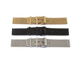 Horlogebandje Van Staal In Drie Kleuren 24MM