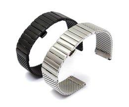 Horlogeband met Vlindersluiting