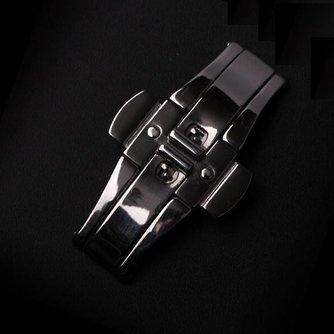 Zwarte Vlindersluiting Voor Horlogebandje