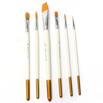 6 Acryl Penselen