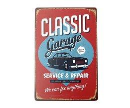 Vintage Reclamebord