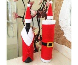 Wijnfles-Decoratie voor Kerst