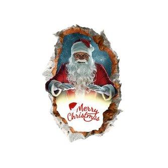 Kerst-Muursticker met Kerstman