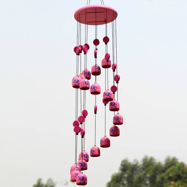 windgong van metaal in de kleur roze i myxlshop supertip. Black Bedroom Furniture Sets. Home Design Ideas