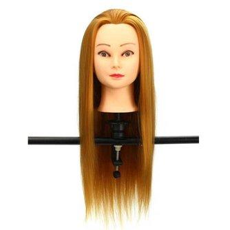 Paspop Etalage Dameshoofd met 30% Echt Haar