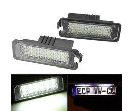 Kentekenplaatverlichting LED voor Volkswagen en Porsche
