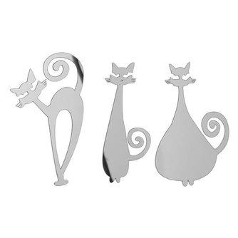 3 Muurstickers Kat