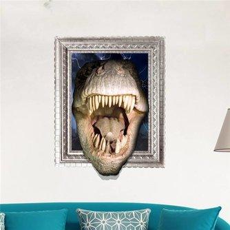 3D Muursticker van PVC met Krokodil