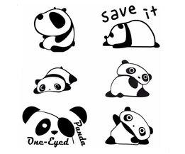 Decoratieve Stickers Panda voor Lichtschakelaars