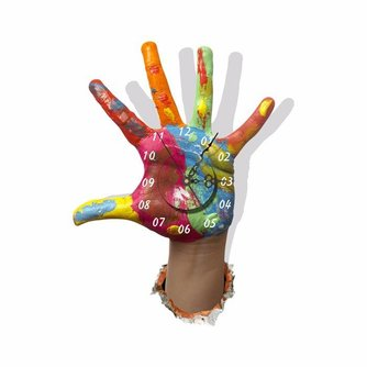 Muurstickers Klok Hand 3D