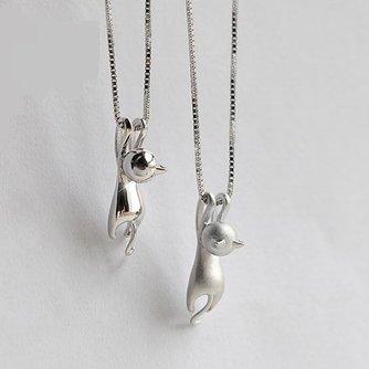 Katten Sieraden Zilver Hanger met Katje