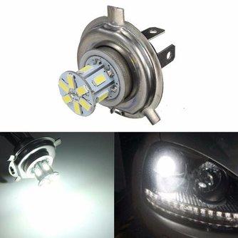LED Lamp H4 met 12SMD Lampjes 5630 Wit voor de Auto