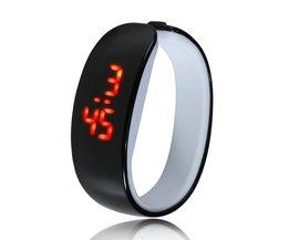 Silicone Armband Horloge LED Man Vrouw Kind