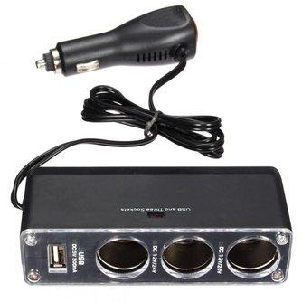 Autolader Met USB Voor Sigarettenaansteker