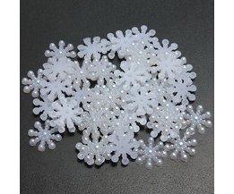 Sneeuwvlokjes Resin 50 Stuks