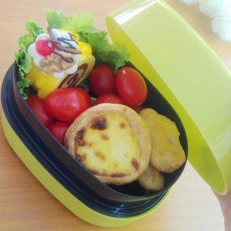 Plastic Lunchtrommeltje in de Kleur Blauw of Zwart
