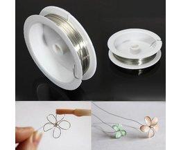 Zilverkleurige Koperdraad voor Sieraden