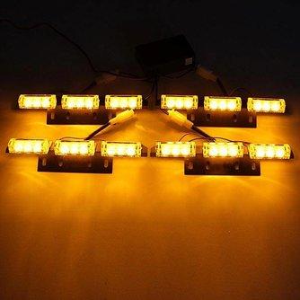 Oranje Flitslampen Voor de Auto Per 4 Panelen