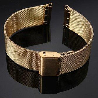 Goudkleurig Horlogebandje van Roestvrij Staal 18/20/22/24mm
