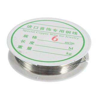 Zilverkleurig Koperdraad om Sieraden te Maken 6.5 Meter