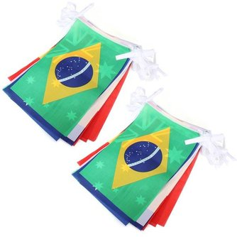 Set Met 32 Landen Vlaggen
