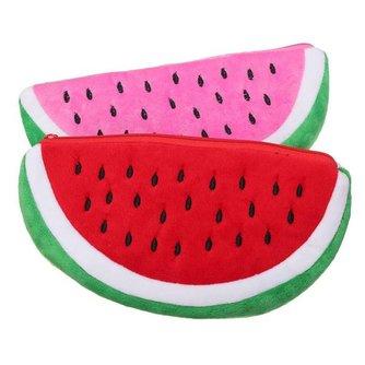 Schattig Watermeloen Tasje met Rits
